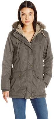 Weathertamer Weather Tamer Women's Anorak Parka Coat with Faux Fur Trimmed Hood