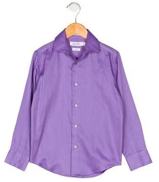 Calvin Klein Boys' Collar Button-Up Shirt