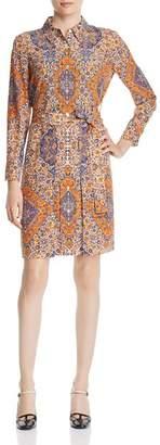 Tory Burch Soirée Printed Silk Shirt Dress