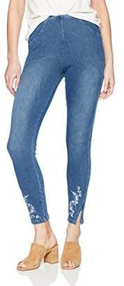 Lysse Women's Cooper Denim Legging with Embroidery