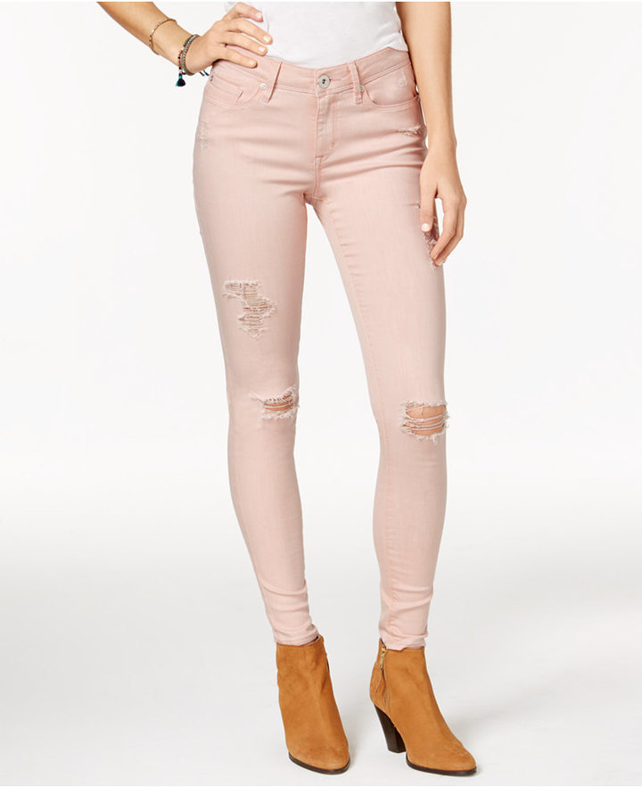American RagAmerican Rag Ripped Mellow Rose Wash Skinny Jeans, Only at Macy's