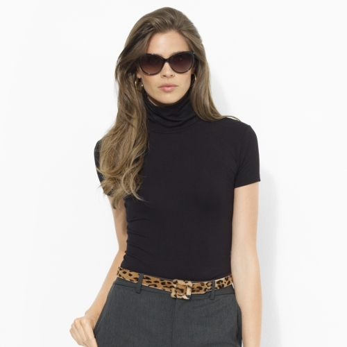 Ralph Lauren Stretch-Jersey Turtleneck