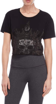 The Kooples Sport Black Graphic Cropped Tee
