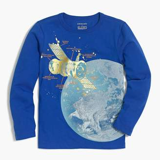 J.Crew Boys' long-sleeve satellite glow-in-the-dark graphic T-shirt