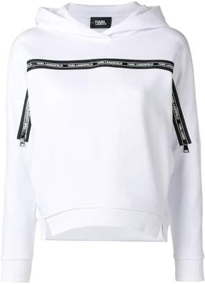 Karl Lagerfeld Paris logo printed hoodie