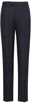 Banana Republic Athletic Tapered Navy Smart-Weight Performance Wool Blend Suit Pant