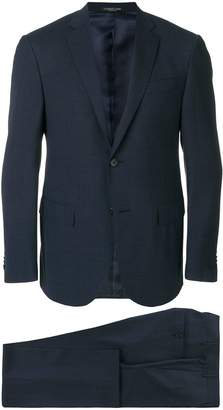 Corneliani micro print single breasted suit