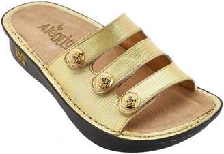 Alegria Printed Triple Strap Sandals - Fiona