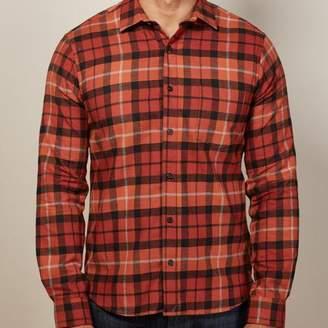Blade + Blue Orange Plaid Flannel Shirt - Timothy
