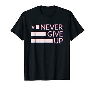 Never give up T-shirt. Motivational tshirt for men