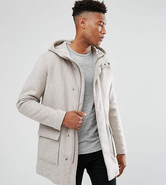 Selected Tall Mix Wool Parka With Padded Lining