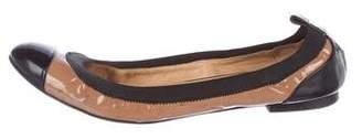 Kurt Geiger Patent Round-Toe Flats