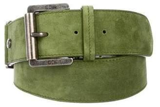 Christian Dior Logo Suede Belt