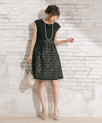anySiS (エニィスィス) - any SiS フローラルオーガンジー ドレス(C)FDB
