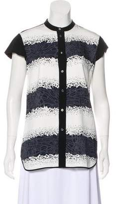 Giles Printed Button-Up Top