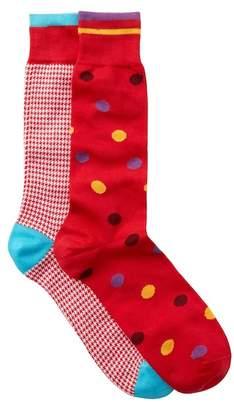 Lorenzo Uomo Assorted Dress Socks - Pack of 2