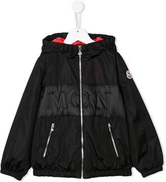 Moncler logo zip-up coat
