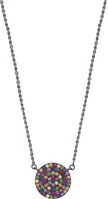 Lana Electric Femme Sapphire Necklace in 14K Black Gold