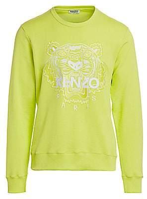 Kenzo Men's Neon Tiger-Embroidered Sweatshirt