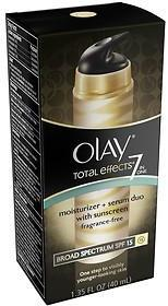 Olay Total Effects Face Moisturizer Plus Serum Duo with Sunscreen, Fragrance Free