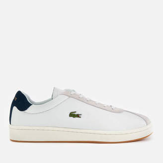 1bdb7f169 Lacoste Men s Masters 119 3 Leather Suede Trainers - Off White Navy