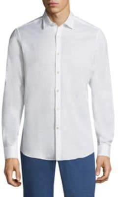 Salvatore Ferragamo Cotton Button-Front Shirt