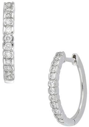 Bony Levy 18K White Gold Diamond 15mm Hoop Earrings - 0.26 ctw
