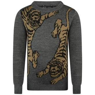 Antony Morato Antony MoratoGrey Wool Blend Tiger Sweater