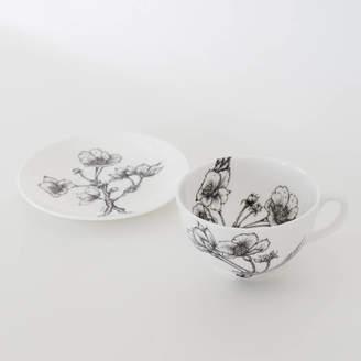 596d3049ad Sarah Horne Botanicals Fine Bone China Blossom Cup And Saucer