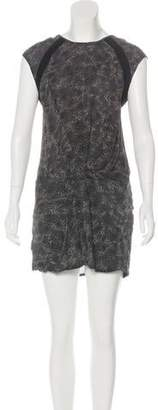 IRO Silk Printed Mini Dress