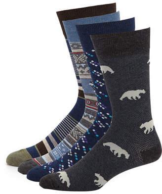 Neiman Marcus Men's 4-Pack Arctic Socks