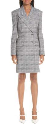By Any Other Name Glen Plaid Long Sleeve Blazer Minidress