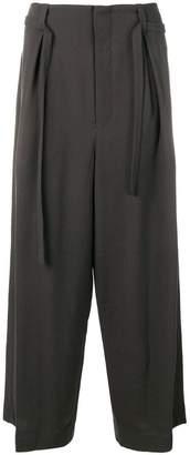 Ethosens pleated wide-leg trousers