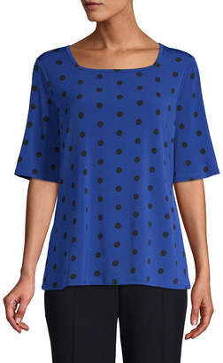 East Fifth east 5th A Elbow Sleeve Square Neck Knit Blouse