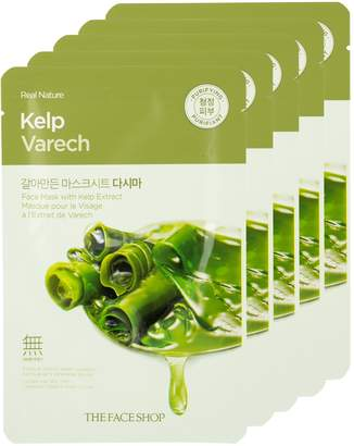The Face Shop Real Nature Kelp Face Mask - Mineral-Rich (5 PK)