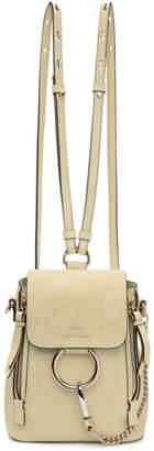 Chloé Off-White Mini Faye Backpack