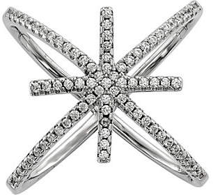 QVC Sterling Crystal Star Ring