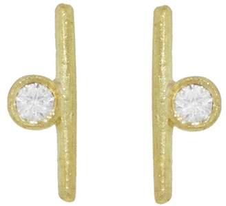 Tate Diamond Circle and Stick Stud Earrings