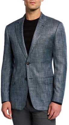 Emporio Armani Men's Bamboo Melange Sport Coat
