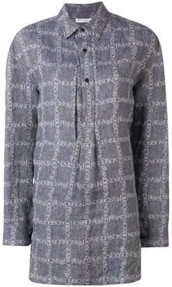 J.W.Anderson logo grid tunic shirt