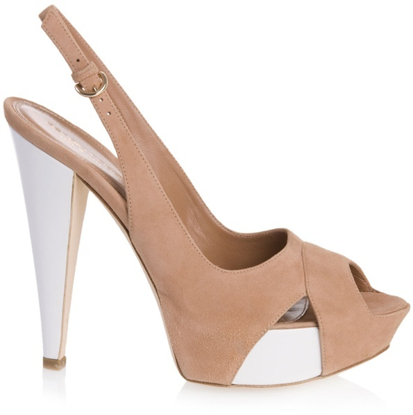 SERGIO ROSSI - Beige suede platform sandal