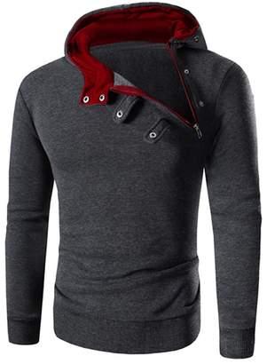 NINGJING Fashion-hoodies NINGJING Men Retro Long Sleeve Winter Fashion Hoodies Casual Pullover Tracksuit