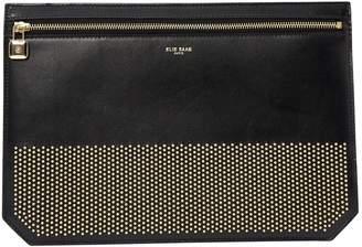Elie Saab Black Leather Clutch Bag