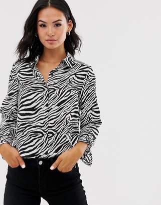 Brave Soul shirt in zebra print