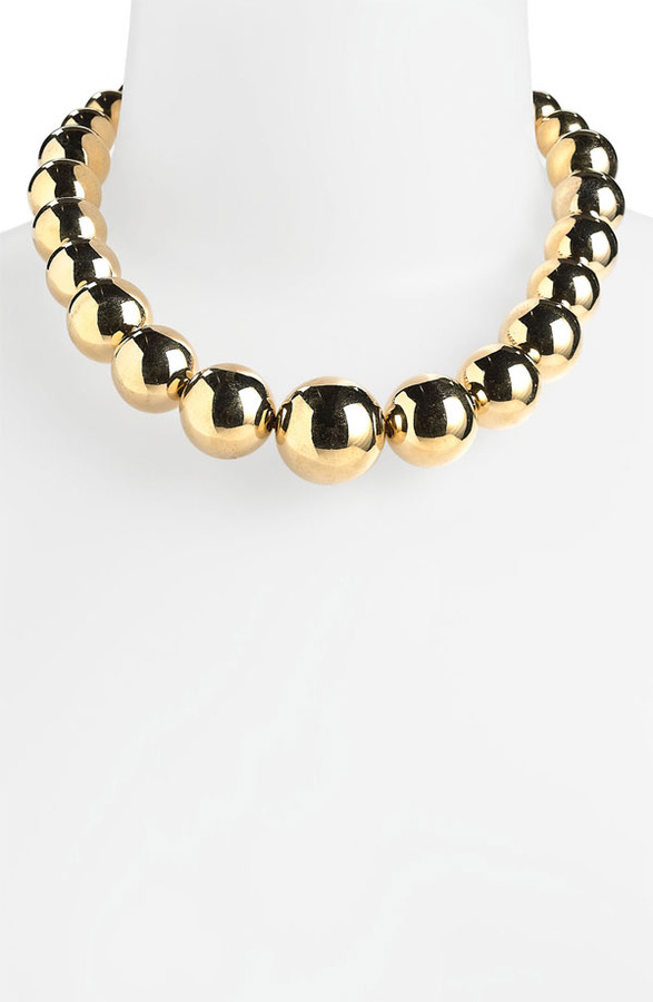 MICHAEL Michael Kors Michael Kors Beaded Collar Necklace Gold