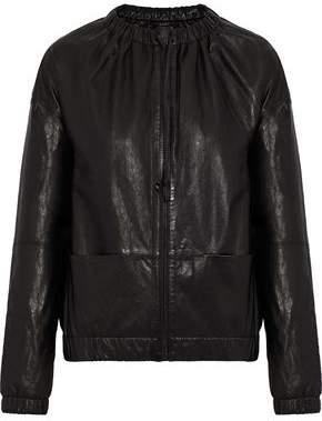 J Brand Leather Bomber Jacket