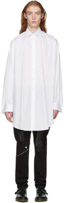 Alexander McQueen White Selvedge Oversize Shirt