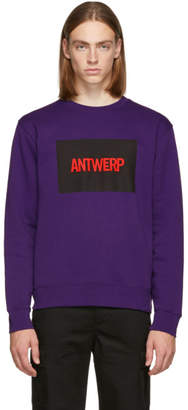 Vier Purple Box Logo Sweatshirt