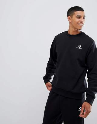 Converse Logo Sweat In Black 10008816-A01