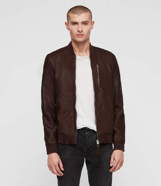AllSaints Kino Leather Bomber Jacket
